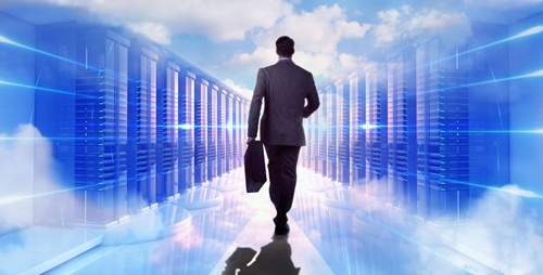 Man walking into cloud servers 500x250.jpg